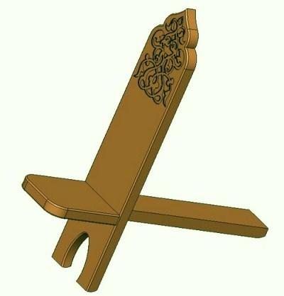 Разборный дачный стул из двух досок