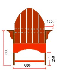 Кресло из досок чертежи