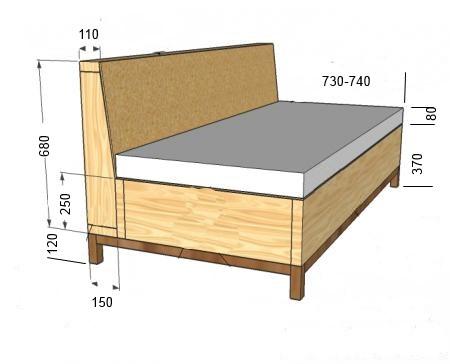 чертежи диванчика