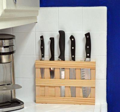 Как сделать подставку для ножей