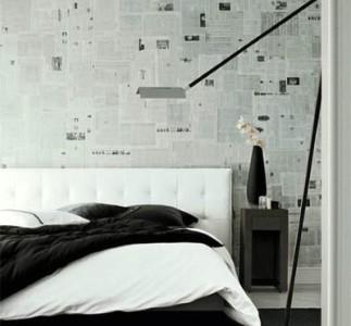 Обклеить стены газетами