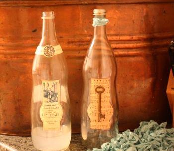 Бутылка с ключом