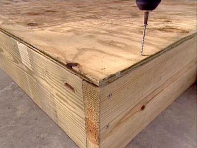 Ящик для песка своими руками