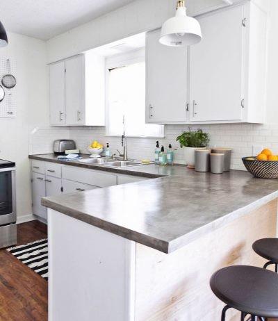 Мебель из бетона на кухне
