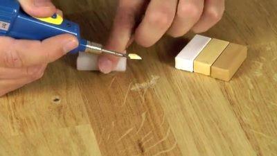 Заполнить строительным воском
