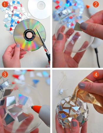 Режем диски на фрагменты и приклеиваем