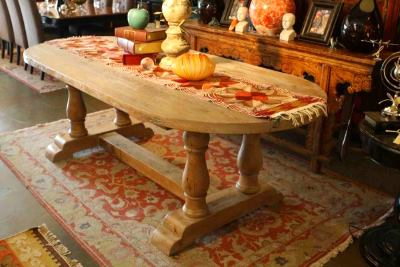 Rustic wooden dining room tables