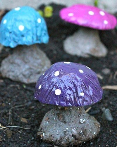 Сделать каменные грибы