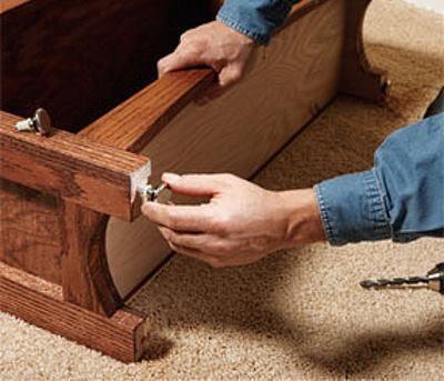 Дополнительные опоры мебели своими руками