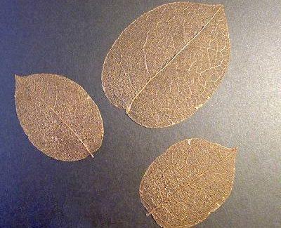 Золотые листья сделай сам