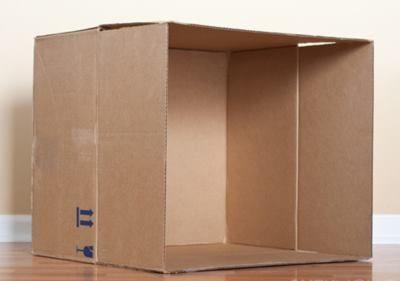 Из картонной коробки