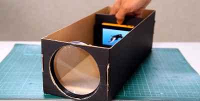 Проектор для смартфона своими руками