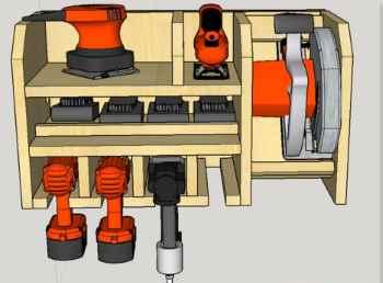 Полка для электро инструмента