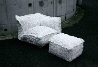 Бумажный диван