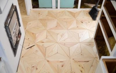 Самодельный геометрический пол