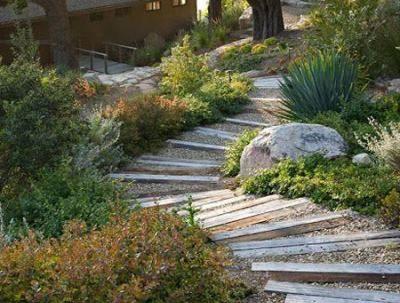 Лестница на склоне