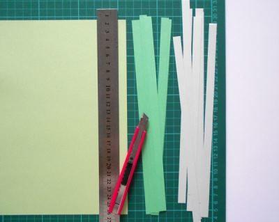 Разноцветные полоски бумаги