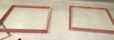 Рамки из деревянных брусок