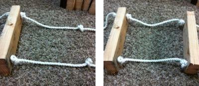 Отмерить длину веревки