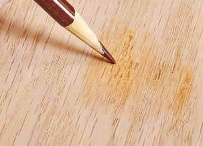 Нарисовать волокна древесины